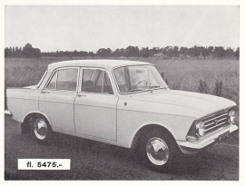 1400 Sedan, introduction card, about 1965, Dutch language