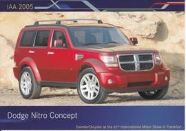 Dodge Nitro Concept, A6-size postcard, IAA 2005