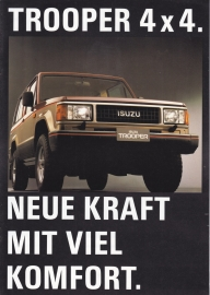 Trooper 4x4, 12 pages, German language, 01/1988, Swiss market