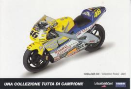 Honda NSR 500 2001, Italian Promocard, DIN A6-size, # 5471