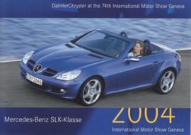 Mercedes-Benz SLK, A6-size postcard, Geneva 2004