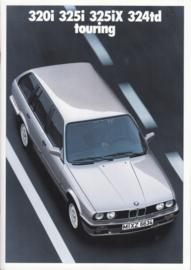 320i/325i/325iX/324td Touring brochure, 34 pages, A4-size, 1/1988, German language