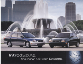 Esteem Sedan & Estate leaflet, 2 pages, 3/1999, USA
