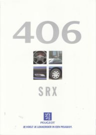 406 Sedan/Break SRX Break brochure, 6 pages, A4-size, about 1998, Dutch language