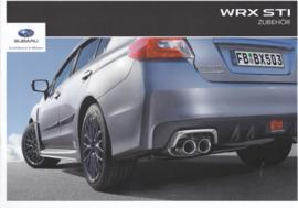 WRX STI accessories brochure, 12 pages, German language, 10/2015