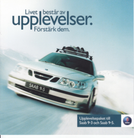 9-3 & 9-5 special editions brochure, 4 pages, about 2006, Swedish language