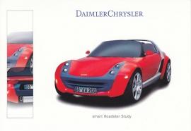 Smart Roadster study, A6-size postcard, IAA 1999, German
