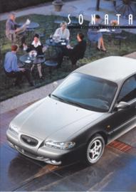 Sonata Sedan brochure, 20 pages, 07/1996, Dutch language