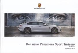 Panamera Sport Turismo pricelist brochure, 112 pages, 03/2017, German language