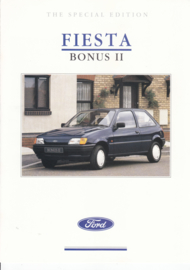 Fiesta Bonus II brochure, 4 pages, 10/1990, English language, UK