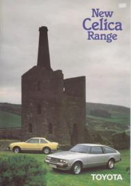 Celica Coupe & Liftback brochure, 8 pages, UK, 8/1980, English language