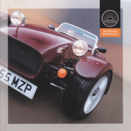 Westfield Sportscar brochure, 6 smaller square pages, English language