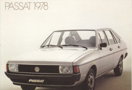 Passat 4-door Hatchback postcard,  A6-size, 1978, no text on reverse