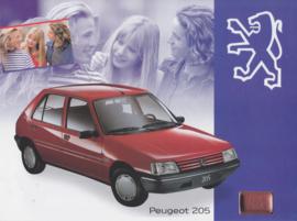 205 Look folder, 4 pages, A4-size, 1/1994, Dutch language (Belgium)