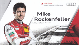 Racing driver Mike Rockenfeller, postcard 2013 season, English language