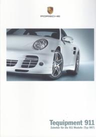 911 Tequipment (997) brochure, 48 pages, 05/2007, German language