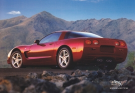 Corvette C5 series 1997, A6 size postcard, 50 years of Corvette, 2003