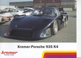 Kremer-Porsche 935 K4 Group 5 replica, 8 pages, excerpt from a book, German language