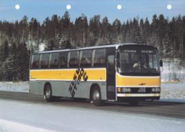 Sisu BT 190 C bus leaflet, 2 pages, A4-size, 03/1983, Finnish language