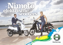 Nimoto electric scooters brochure, 6 pages, 2013, Dutch language