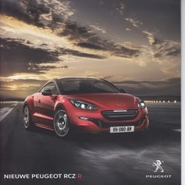 RCZ R brochure, 12 pages, Dutch language, about 2015