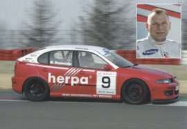 Leon racer with driver Michael Neumeister postcard, DIN A6 size, German language, about 2005