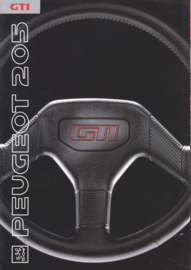 205 GTi 1.9 brochure, 8 pages, A4-size, 9/1990, English language