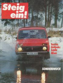 Niva 4x4 1600 roadtest reprint, 6 pages, about 1978, German language (Belgium)