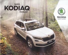 Kodiaq pricelist brochure, 20 pages, 01/2018, Dutch language