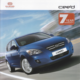 Cee'd Hatchback brochure, 8 pages, 2007, Dutch language