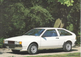 VW Scirocco by Karmann,  A6-size postcard, 1980s, German