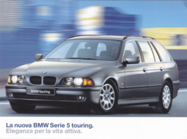5-Series Touring brochure, 12 pages, A4-size, 01/1997, Italian language