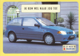 Swift, DIN A6-size postcard, Dutch language, 1999