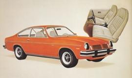 Vega GT Hatchback Coupe,  US postcard, standard size, 1974