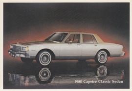 Caprice Classic Sedan,  US postcard, standard size, 1980