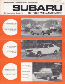 Program leaflet, 2 pages, Dutch language, about 1975