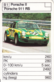 911 RS - card B1 - size 10 x 6,5 cm, Dutch language