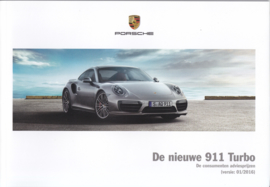 911 Turbo new model (991 II) pricelist, 80 pages, 01/2016, Dutch