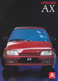 AX brochure, 28 pages, about 1989, Dutch language