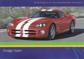 Dodge Viper, A6-size postcard, Geneva 2005