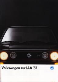Program brochure, 56 pages,  A4-size, German language, 09/1987
