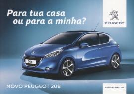 new 208 Hatchback, A6-postcard, Postalfree freecard, Spanish language, 2015
