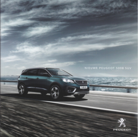 5008 SUV brochure,  pages, Dutch language, 01/2017