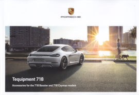 718 Boxster & Cayman tequipment brochure,  88 pages, 11/2017, English language