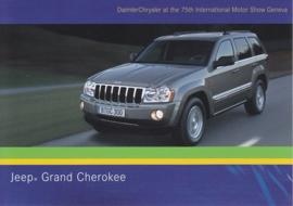 Jeep Grand Cherokee, A6-size postcard, Geneva 2005