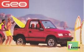 Tracker, US postcard, standard size, 1992