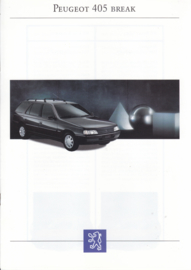 405 Break brochure, 12 pages, A4-size, 1993, French language
