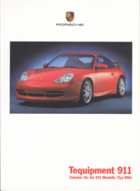 911 Tequipment (996) brochure, 28 pages, 08/1999, German language