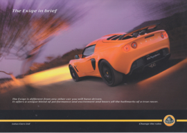 Exige, 2 page leaflet, DIN A4-size, factory-issued, 2007, English language