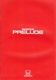 Prelude 1.8 Coupé brochure, 28 pages, A4-size, about 1985, German language